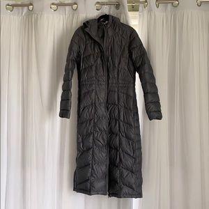 Athleta Grey Down Puffer Coat S